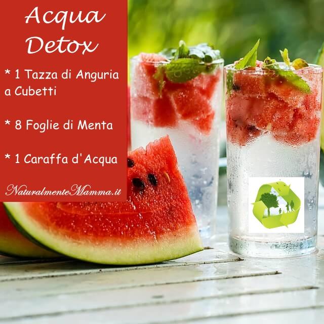 Acqua Detox Anguria Menta
