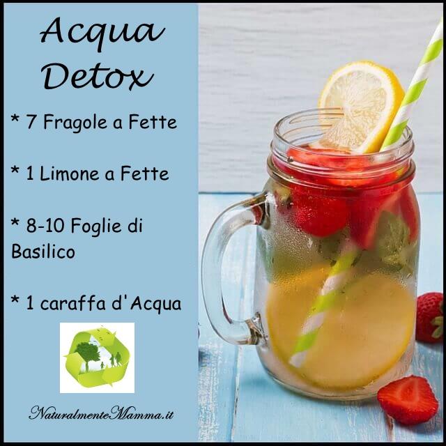 Acqua Detox Fragola Limone Basilico