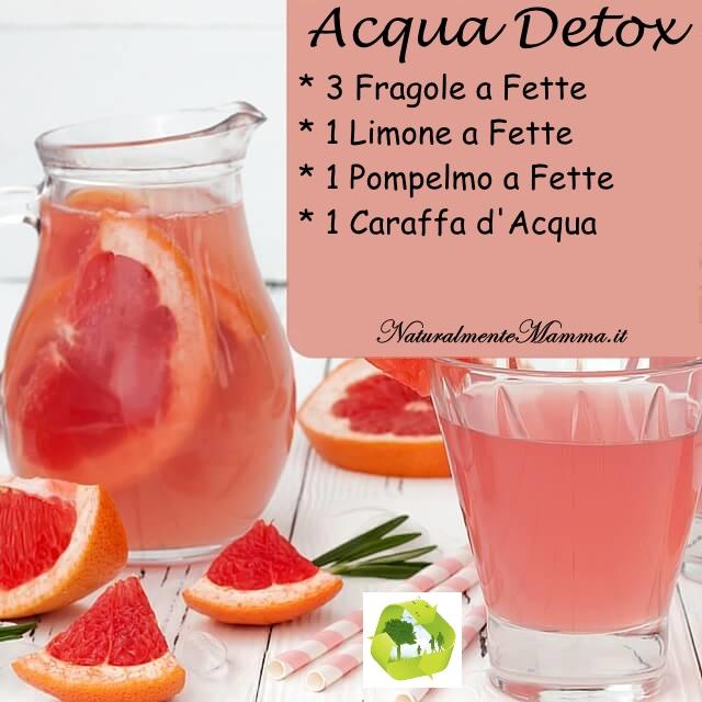 Acqua Detox Fragola Limone Pompelmo