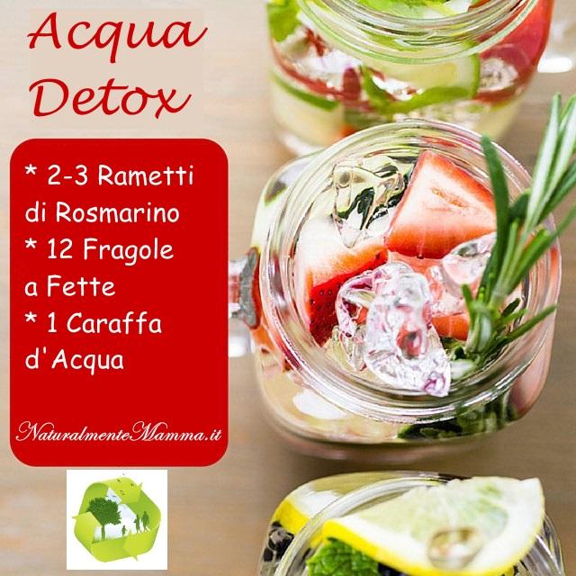 Acqua Detox Fragole Rosmarino