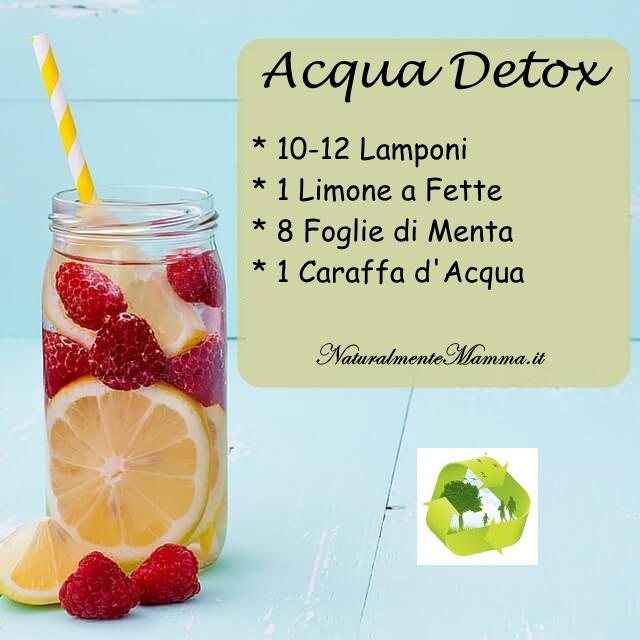 Acqua Detox Lamponi Limone Menta