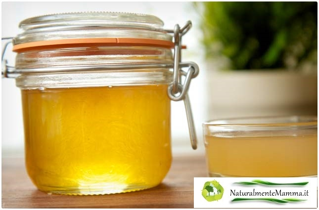 Miele all'aceto di mele con Logo NaturalmenteMamma