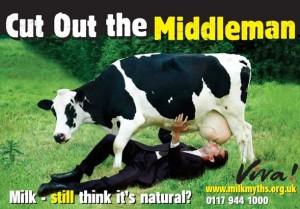 latte di mucca e l'uomo